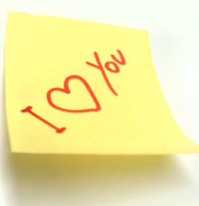 post it amour