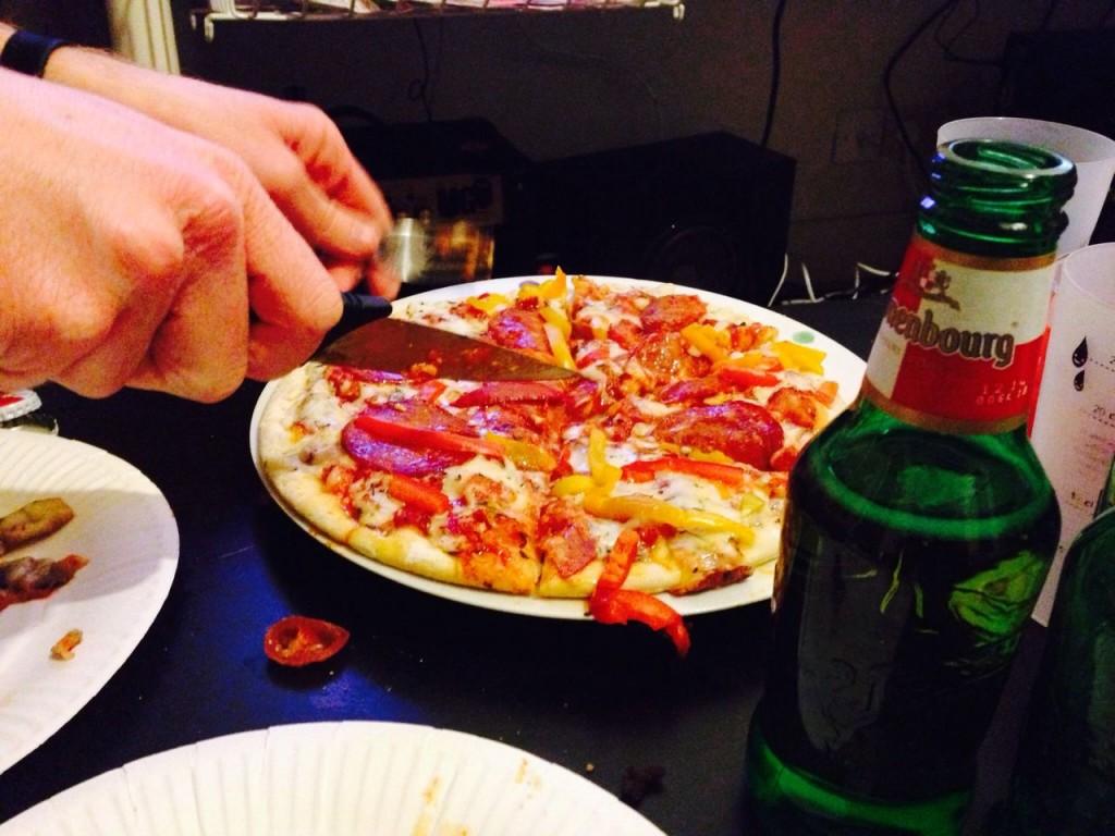 pizza bière