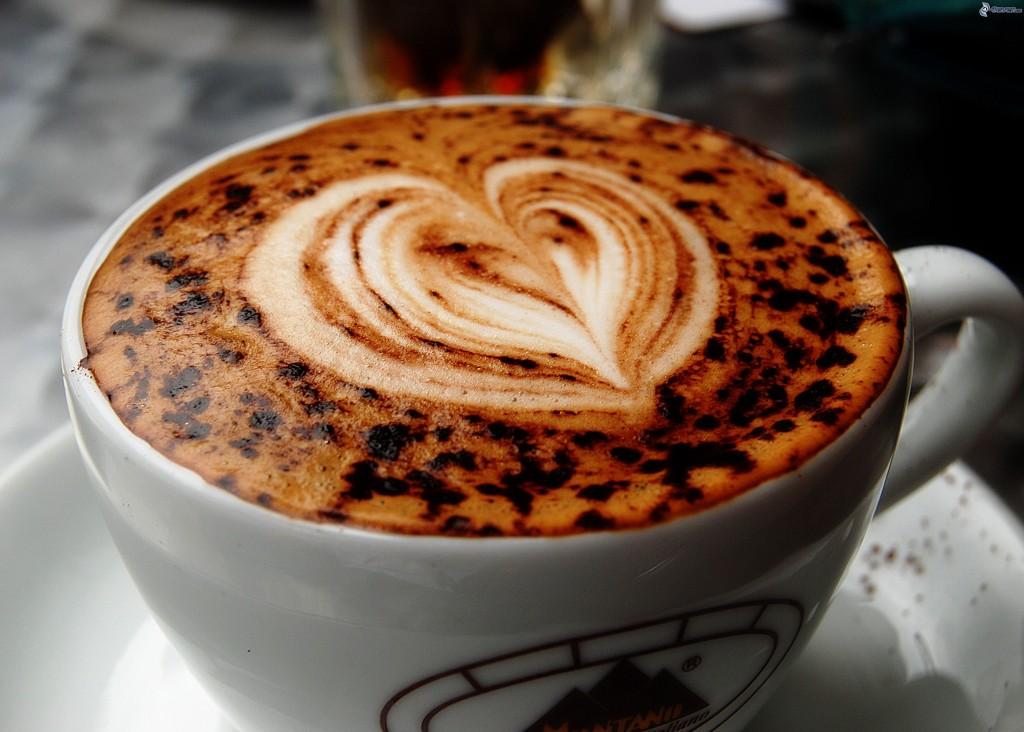 tasse de café avec un coeur - je t'aime