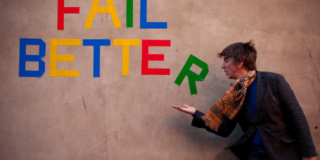 Fail better un homme et le mur