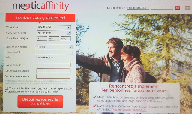 meetic affinity acceuil
