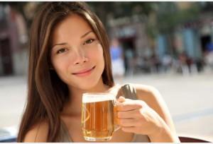 femme qui boit