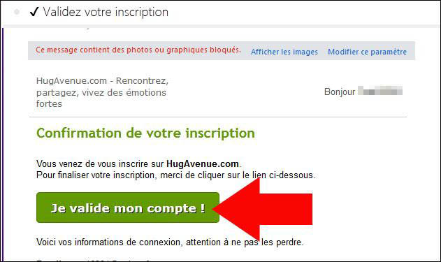 validation compte hug avenue
