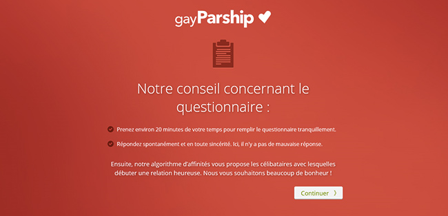 gay parship questionnaire