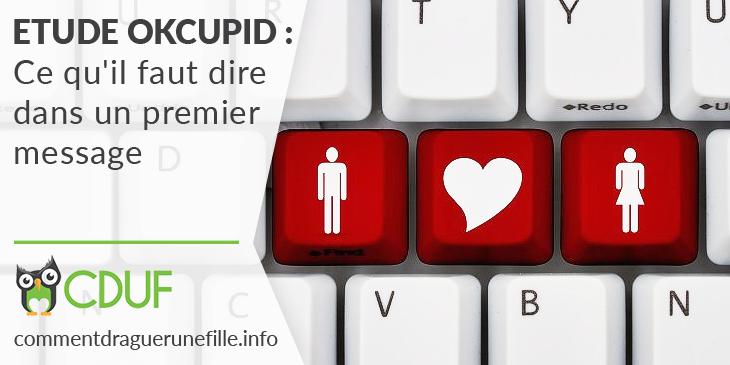 éutde 1er message par OkCupid